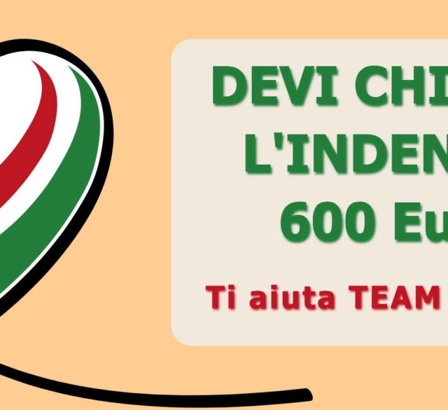 Cura Italia indennità 600 euro da Team Service Bresso, Cinisello B., Cernusco S.N.